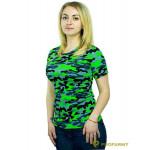 Футболка ProfArmy женская, короткий рукав, Green Camo