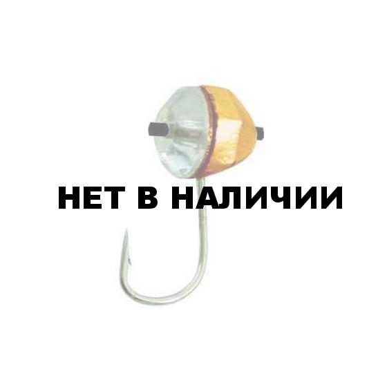 Мормышка LUCKY JOHN вольфрамовая КРУГЛАЯ гран. с отв..кембр. и Swarovski 040/17 5 шт