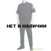 Костюм ProfArmy Росгвардия офисный с коротким рукавом габардин иссиня-черный