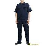 Костюм ProfArmy Росгвардия офисный с коротким рукавом габардин темно-синий
