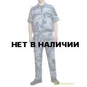 Костюм ProfArmy Росгвардия офисный с коротким рукавом, панацея мох синий