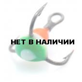 Крючок-тройник LUCKY JOHN для приманок с каплей цвет. разм.012 RYB 10 шт