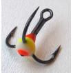 Крючок-тройник LUCKY JOHN для приманок с каплей цвет. разм.010 YRF 10 шт