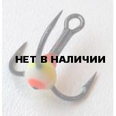 Крючок-тройник LUCKY JOHN для приманок с каплей цвет. разм.012 YRF 10 шт