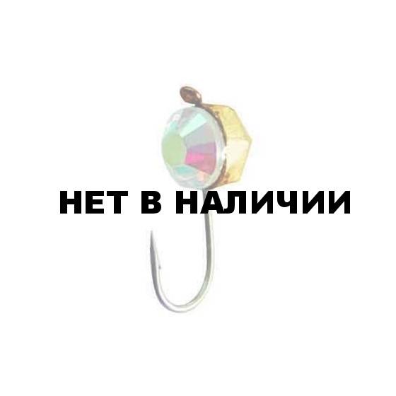 Мормышка LUCKY JOHN вольфрамовая КРУГЛАЯ гран.с петел. и Swarovski 050/17 5 шт