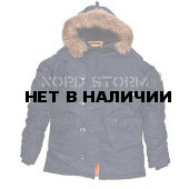 Парка Nord Storm Аляска N3B HUSKY navy/orange