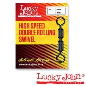 Вертлюги LUCKY JOHN HIGH SPEED DOUBLE ROLLING K004 0 5 уп. по 5 шт