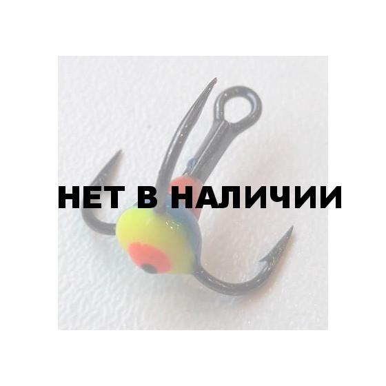 Крючок-тройник LUCKY JOHN для приманок с каплей цвет. разм.008 GYF 10 шт