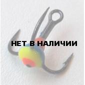 Крючок-тройник LUCKY JOHN для приманок с каплей цвет. разм.012 GYF 10 шт