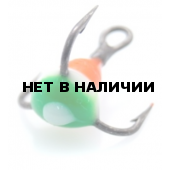 Крючок-тройник LUCKY JOHN для приманок с каплей цвет. разм.008 RYB 10 шт