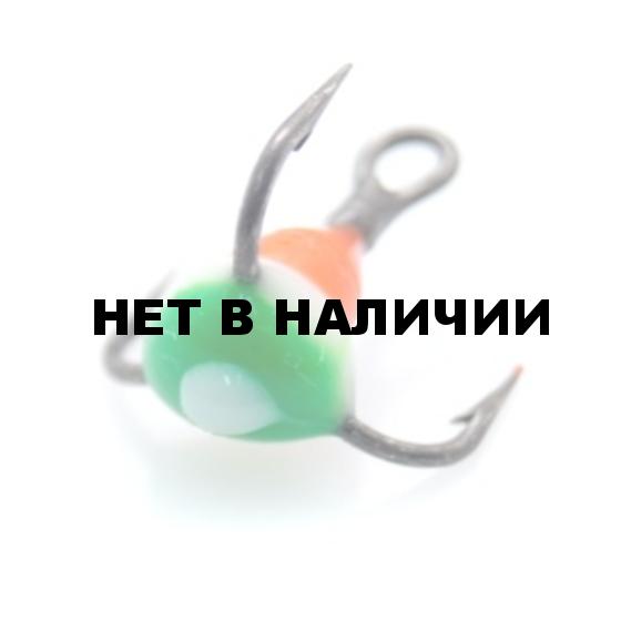 Крючок-тройник LUCKY JOHN для приманок с каплей цвет. разм.010 RYB 10 шт