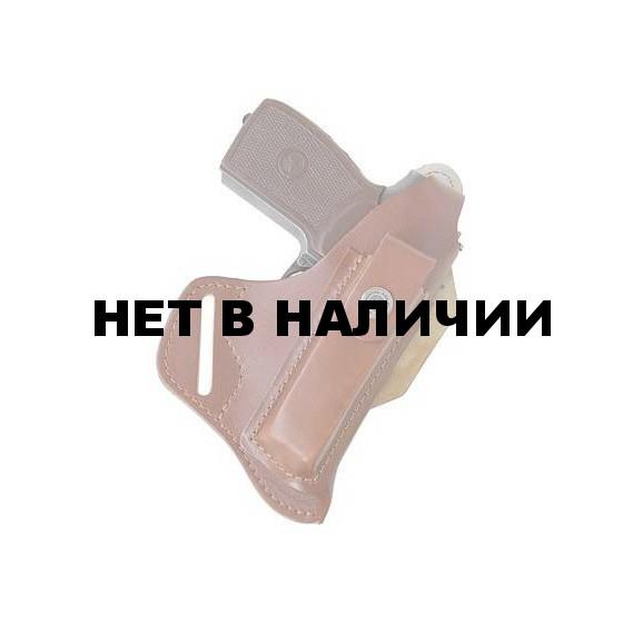 Кобура Stich Profi поясная Гранит-3 моноблок из кобуры и пенала под запасной магазин ПМ Цвет: Коричневый
