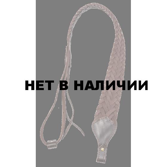 Ремень Holster карабинный плетеный кожа черный