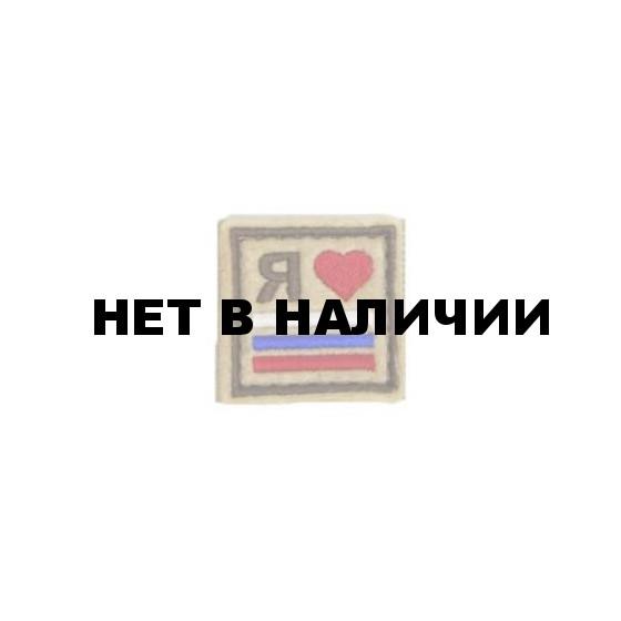 Патч Stich Profi Я люблю Россию 38х38 мм Цвет: Олива