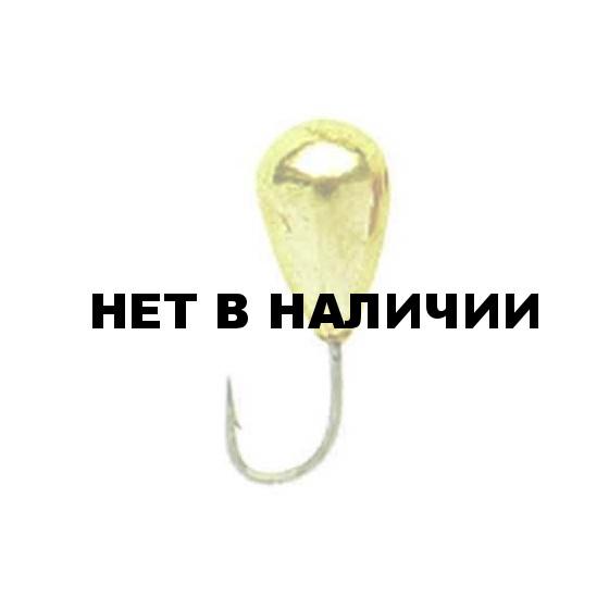 Мормышка LUCKY JOHN вольфрамовая КАПЛЯ с отв.и кембр. 030/G 5 шт