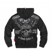 Толстовка Dobermans Aggressive на молнии Death Rider BZ102 черная
