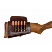 Патронташ Holster на приклад 5 патронов СНО (для нарезного оружия) кожа коричневый