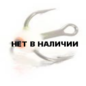 Крючок-тройник LUCKY JOHN для приманок с каплей цвет. разм.008 F 10 шт