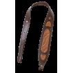 Ремень Holster карабинный с узором кожа коричневый