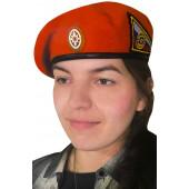 Берет VoenPro МЧС с кокардой и нашивкой