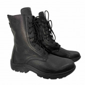 Ботинки Зубр Авиатор м. 7625 п/ш мех на молнии черные