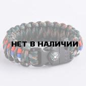 Браслет VoenPro Кобра компас-огниво-свисток 24 см марпат/триколор 21 см