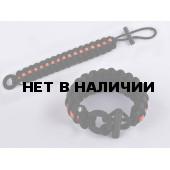 Браслет VoenPro Кобра с огнивом 21 см черный/красный
