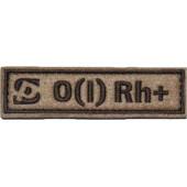 Патч Stich Profi Группа крови с логотипом SP 25х90 мм Цвет: Бежевый, Модель: B III Rh-