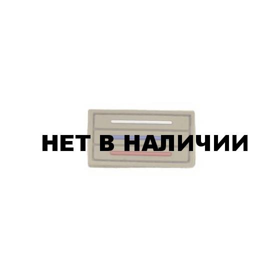 Патч Stich Profi ПВХ Флаг России тактический MINI 25х45 мм Цвет: Бежевый