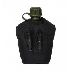 Фляга Tactical PRO пластиковая 950мл в чехле черная