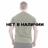 Футболка Keotica 100% хлопок Быть воином - жить вечно олива с черным