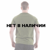 Футболка Keotica 100% хлопок Сила Треба Даждьбог олива с белым