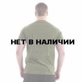 Футболка Keotica 100% хлопок Сила Треба Даждьбог олива с черным
