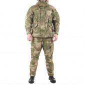 Костюм KE Tactical Горка-5 рип-стоп с налокотниками и наколенниками мох