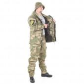 Костюм KE Tactical Горка-5 со съемной флисовой жилеткой рип-стоп с налокотниками и наколенниками мох