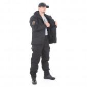 Костюм KE Tactical Горка-5 с жилеткой рип-стоп с налокотниками и наколенниками черная