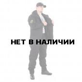Костюм KE Tactical Горка-5 со съемной флисовой жилеткой рип-стоп с налокотниками и наколенниками черная