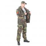 Костюм KE Tactical Горка-5 со съемной флисовой жилеткой рип-стоп с налокотниками и наколенниками излом