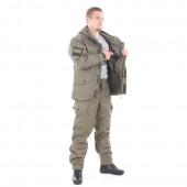 Костюм KE Tactical Горка-5 со съемной флисовой жилеткой рип-стоп с налокотниками и наколенниками олива