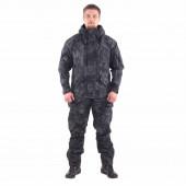 Костюм KE Tactical Горка-5 с жилеткой рип-стоп с налокотниками и наколенниками питон черный