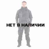 Костюм KE Tactical Горка-5 со съемной флисовой жилеткой рип-стоп с налокотниками и наколенниками питон черный