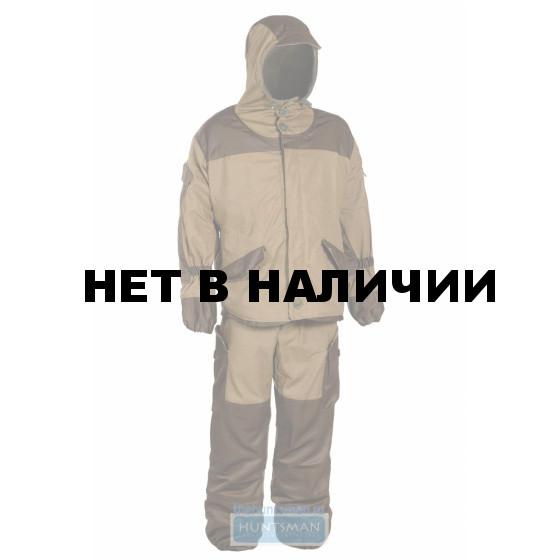 Костюм Горка-V Huntsman демисезонный, на флисе, цвет - хаки с накладками олива