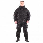 Костюм Горка-Зима облегченный мембрана multicam black