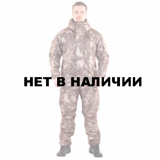 Костюм KE Tactical Горка мембрана на флисе мох коричневый