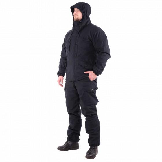 Костюм KE Tactical Горка мембрана на флисе черный