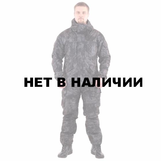 Костюм KE Tactical Горка мембрана на флисе питон черный