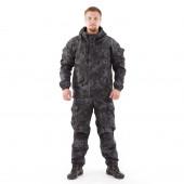 Костюм KE Tactical Горка рип-стоп на флисе питон черный
