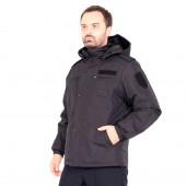Куртка KE Tactical Полиция демисезонная удлинённая иссиня-черная без канта