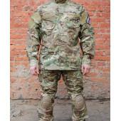Куртка Гарсинг КСПН рип-стоп с клапанами вентиляции и со съемной защитой для локтей Camo Multi X
