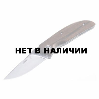 Нож ПП Кизляр Ирбис AUS-8 рукоять дерево складной